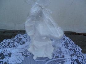 Aniołek ceramiczny z miejscem na świeczkę