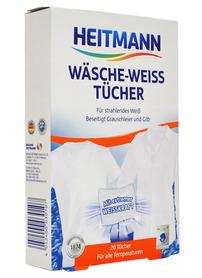 Heitmann Wäsche Weiss - 20 szt - chusteczki wybielające