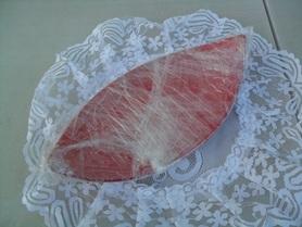 Ceramiczna podstawka pod świeczkę - łódka