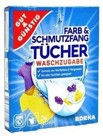 Gut&Gunstig chusteczki wyłapujące kolor - 24 sztuki