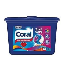Coral kapsułki 3 w 1 Color - 18 prań