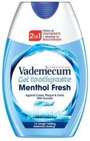 Vademecum MentholFresh 2 in 1 - 75 ml - pasta do zębów + płyn do płukania jamy ustnej