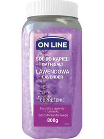 On Line - 800 g - lawenda - sól do kąpieli
