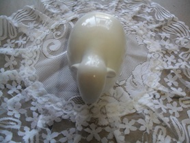 Baran biały ceramiczny