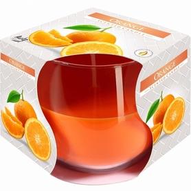 Świeca zapachowa w szkle - pomarańcza