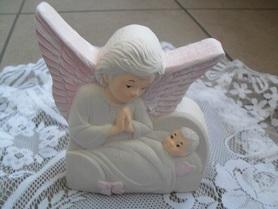 Aniołek gipsowy obrazek