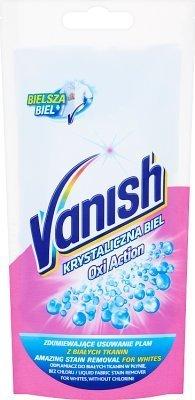 Vanish Krystaliczna Biel Oxi Action 100 ml - odplamiacz do tkanin - saszetka