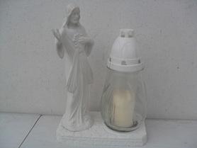 Chrystus gumowy ze zniczem - biały