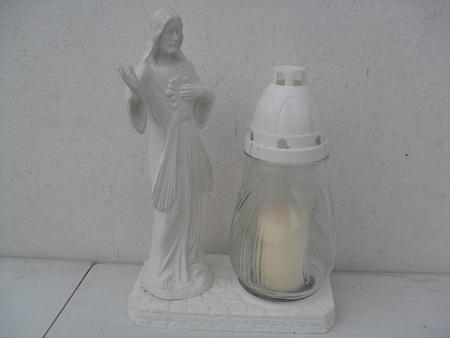 Chrystus gumowy ze zniczem - biały (1)