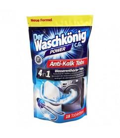 Der Waschkönig Anti-Kalk Tabs - 324 g - odkamieniacz do pralki w tabletkach - 18 szt