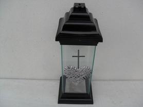 Znicz klasyczna kaplica z krzyżem i sercem