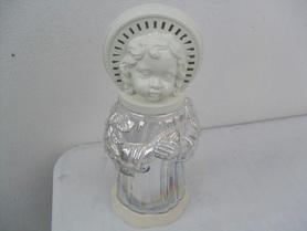 Znicz w kształcie anioła z tęczowego szkła