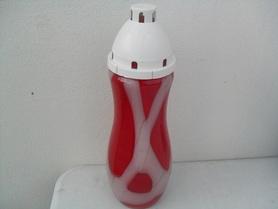 Znicz z dekoracyjnego szkła - czerwony