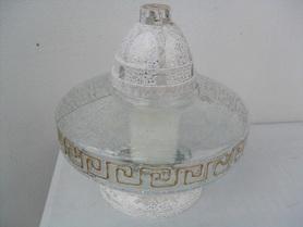 Znicz ufo z mrożonego szkła