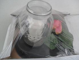 Znicz na sercu z różą