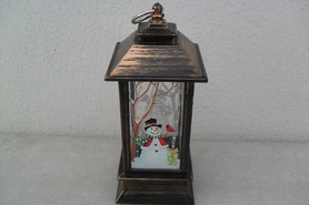 Lampion z motywem bałwana