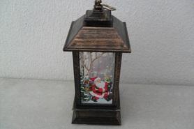 Lampion z motywem mikołaja