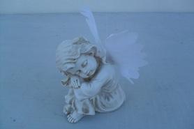 Aniołek a'la gipsowy ze świecącymi skrzydłami