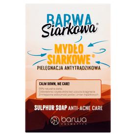 Barwa Siarkowa - 100 g - mydło siarkowe, antytrądzikowe - w kostce