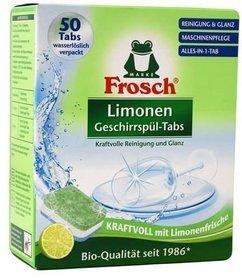 Frosch tabletki do zmywarki - 1000 g - 50 sztuk - limonka