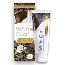 White Glo Coconut Oil Shine 120 ml - pasta do zębów + szczoteczka + wykałaczki