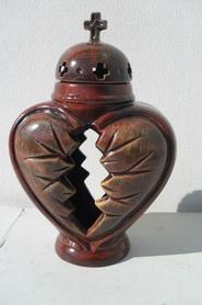 Znicz ceramiczny serce