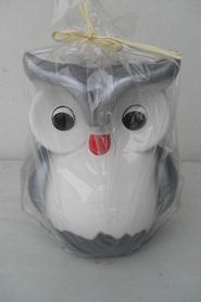 Ceramiczna sowa skarbonka
