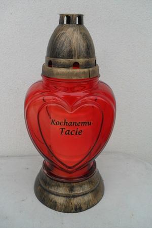 Znicz serce z napisem kochanemu tacie (1)