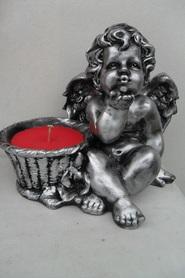 Aniołek gipsowy z wkładem - duży
