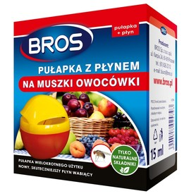 Bros pułapka z płynem na muszki owocówki 15 ml