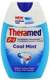 Theramed 2 in 1 Cool Mint 75 ml - pasta do zębów + płyn do płukania jamy ustnej