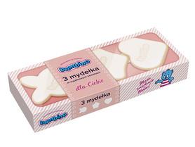 Bambino 3 mydełka - 3 x 50 g - różne kształty - różowe - w kostce