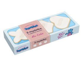 Bambino 3 mydełka - 3 x 50 g - różne kształty - niebieskie - w kostce