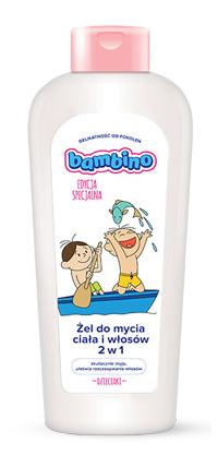 Bambino 2 w 1 - 400 ml - żel do mycia ciała i włosów dla dzieci