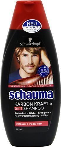 Schauma Karbon Kraft 5 in 1 - 400 ml - szampon do włosów