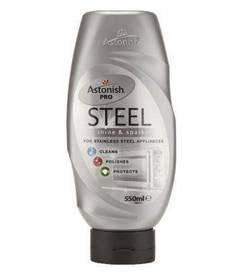 Astonish Steel 550 ml - mleczko do czyszczenia stali nierdzewnej